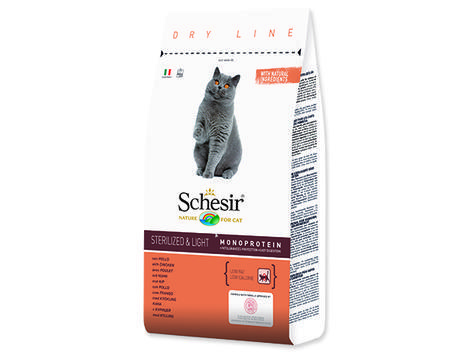 SCHESIR Cat pro kočky sterilizované a s nadváhou 10kg