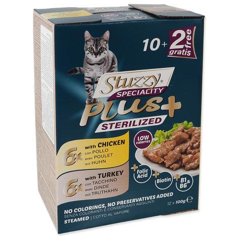 Kapsička STUZZY Speciality Plus Sterilized kuře, krůta multipack 1200g