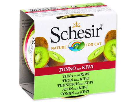 Konzerva SCHESIR Cat Fruit tuňák + kiwi 75g