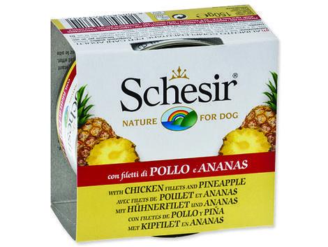 Konzerva SCHESIR Dog Fruit kuřecí + ananas 150g