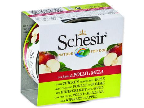 Konzerva SCHESIR Dog Fruit kuřecí + jablko 150g