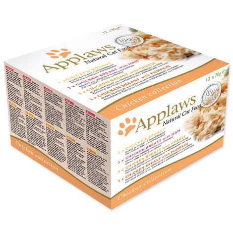 Konzervy APPLAWS Chicken Selection Multipack 12 x 70 g 840g