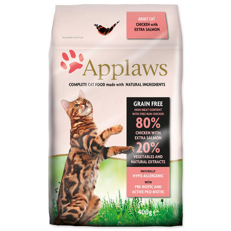 Granule APPLAWS Dry Cat Chicken & Salmon 400g
