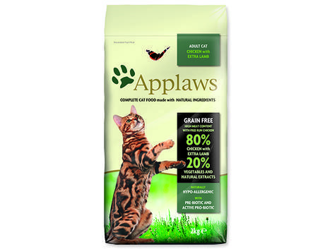 Krmivo APPLAWS Dry Cat Chicken with Lamb 2kg