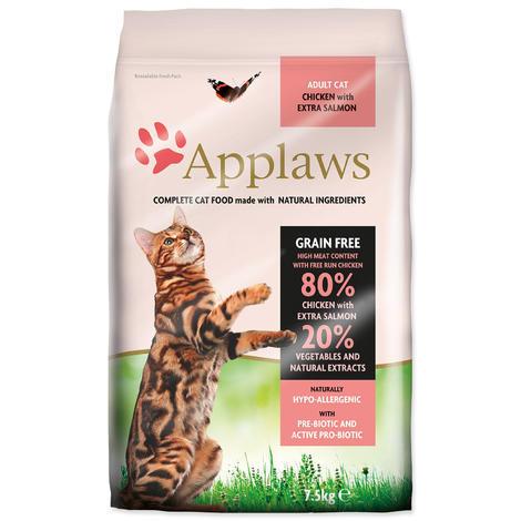 Granule APPLAWS Dry Cat Chicken & Salmon 7,5kg
