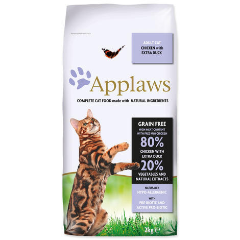 Granule APPLAWS Dry Cat Chicken with Duck