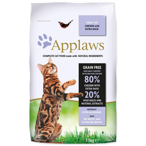 Granule APPLAWS Dry Cat Chicken with Duck 7,5kg