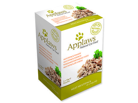 Kapsičky APPLAWS Chicken Meat in Jelly Multipack 250g