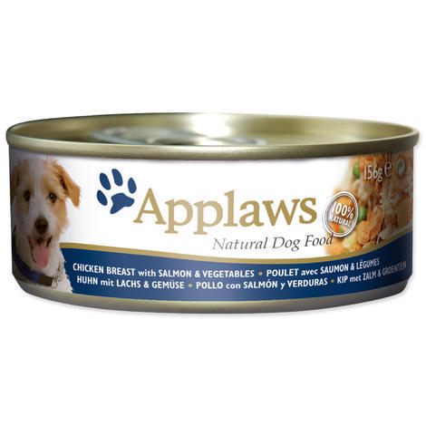 Konzerva APPLAWS Dog Chicken, Salmon & Rice  156 g