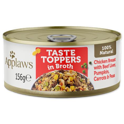 Konzerva APPLAWS Dog Chicken, Beef Liver & Veg  156 g