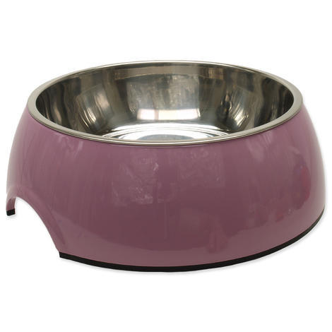 Miska DOG FANTASY nerezová kulatá růžová XL 1,4l