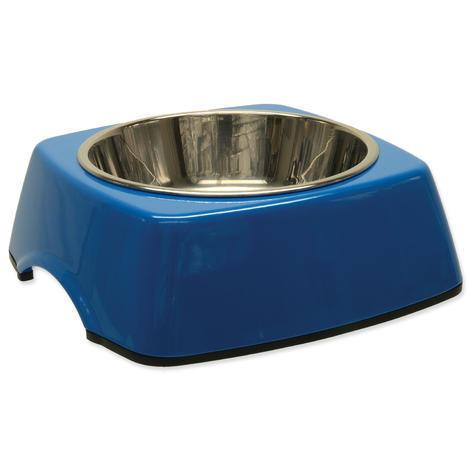 Miska DOG FANTASY nerezová čtvercová modrá M 0,35l