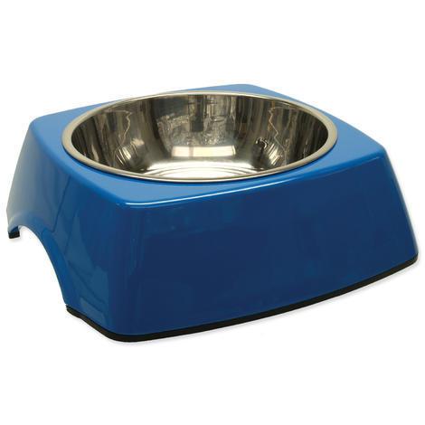 Miska DOG FANTASY nerezová čtvercová modrá L 0,7l