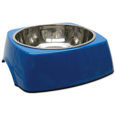 Miska DOG FANTASY nerezová čtvercová modrá XL 1,4l