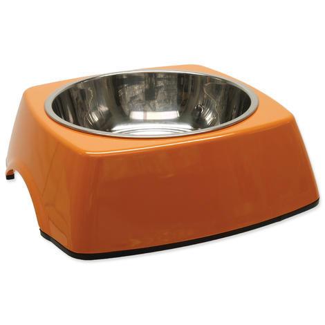 Miska DOG FANTASY nerezová čtvercová oranžová L 0,7l