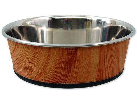 Miska DOG FANTASY nerezová kulatá potisk dřevo 1900ml