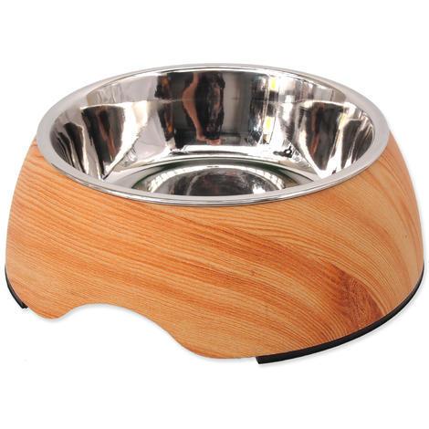 Miska DOG FANTASY nerezová kulatá světlé dřevo L 950ml
