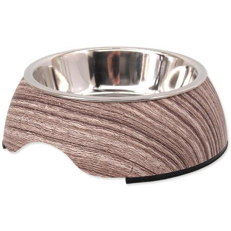 Miska DOG FANTASY nerezová kulatá žíhané dřevo 950ml