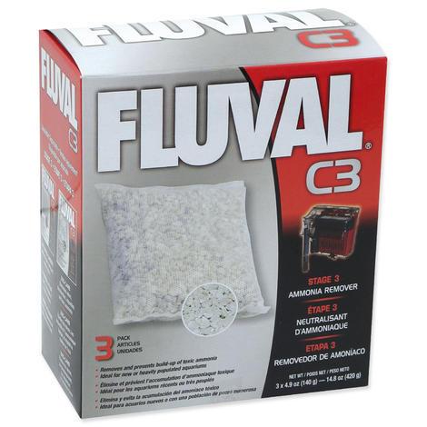 Náplň sáčky pro odstranění amoniaku FLUVAL C3 3ks