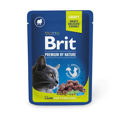 Brit premium cat pouches Lamb for Sterilised 100g