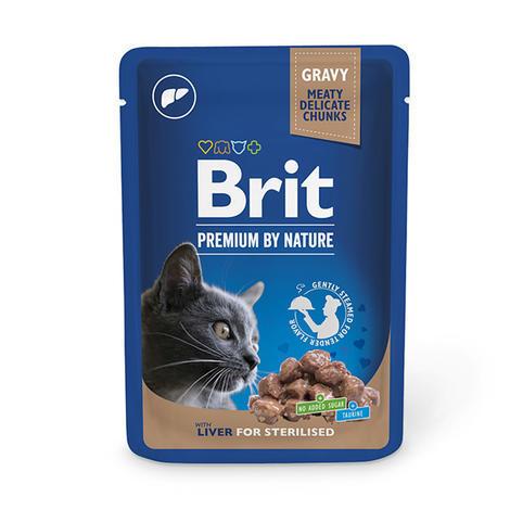 Brit Premium Cat Pouches Liver for Sterilised 100g