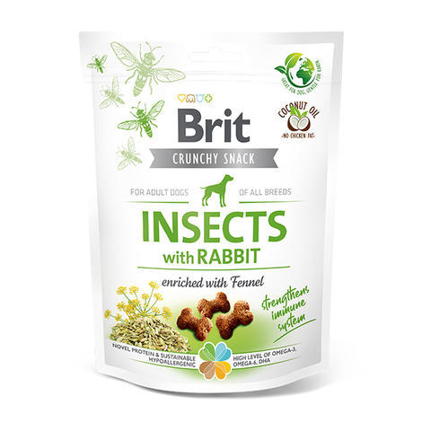 Brit Care Dog Crunchy Cracker. Insects with Rabbit enriched with Fennel, 200 g