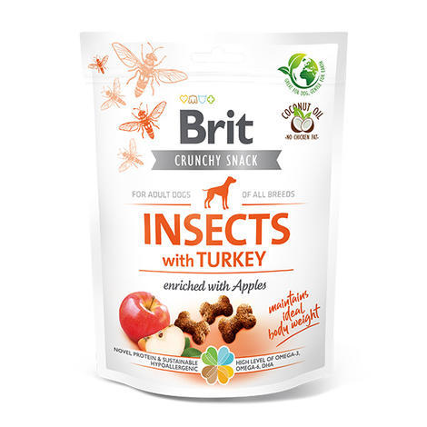 Brit Care Dog Crunchy Cracker. Insects with Turkey and Apples, 200 g
