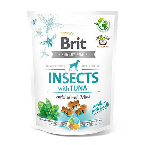 Brit Care Dog Crunchy Cracker. Insects with Tuna enriched with Mint, 200 g