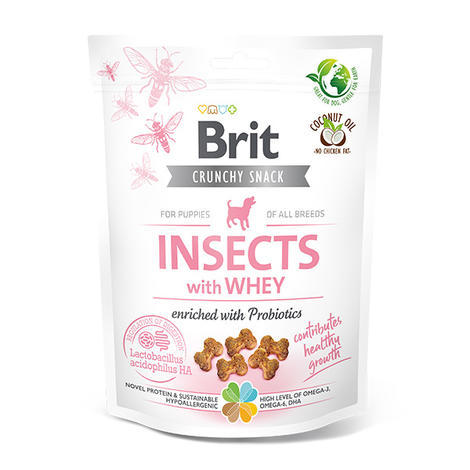 Brit Care Dog Crunchy Cracker. Puppy. Insects with Whey enriched with Probiotics, 200 g