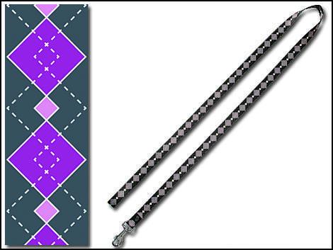 Vodítko DOG IT Geomet šedo - fialové  M