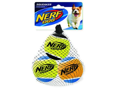 Hračka NERF tenisák pískací 6 cm 3ks
