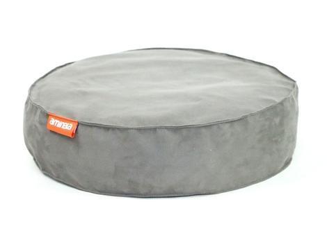 Kulatý pelíšek Aminela Full comfort 60/15cm šedá