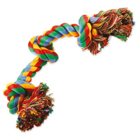 Uzel DOG FANTASY bavlněný barevný 3 knoty  40 cm