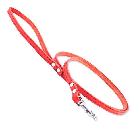 Vodítko TAMER kožené 1,0 / 145 cm červené 1ks