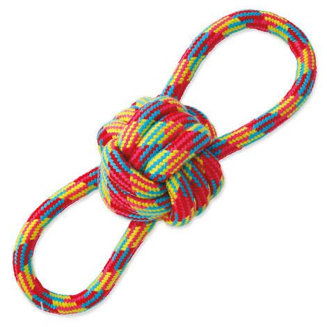 Přetahovadlo DOG FANTASY osmička barevné bavlna + uzel 1ks