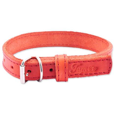 Obojek TAMER kožený 1,9 / 35 cm červený 1ks