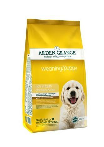 Granule Arden Grange Weaning/Puppy rich in fresh Chicken & Rice 6kg
