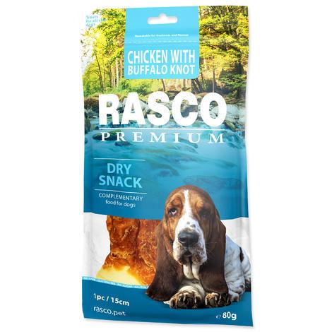 Pochoutka RASCO Premium uzel bůvolí obalený kuřecím masem