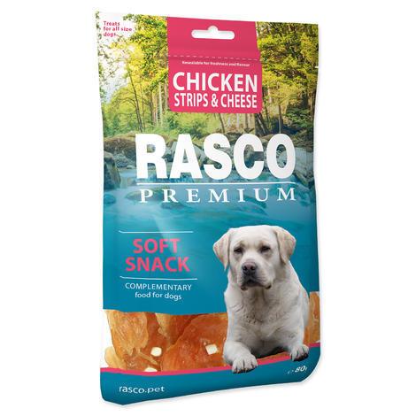 Pochoutka RASCO Premium proužky kuřecí se sýrem