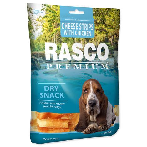 Pochoutka RASCO Premium proužky sýru obalené kuřecím masem