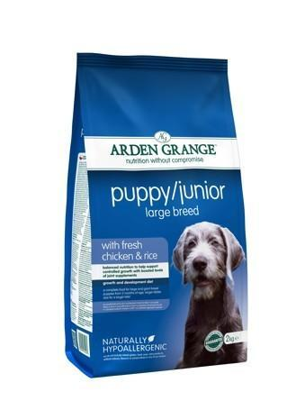Granule Arden Grange Puppy/Junior Large Breed with fresh Chicken & Rice