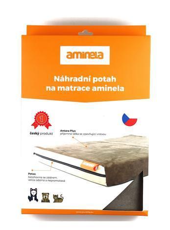 Potah na matraci Aminela - 100x70x10cm half and half šedá/oranžová