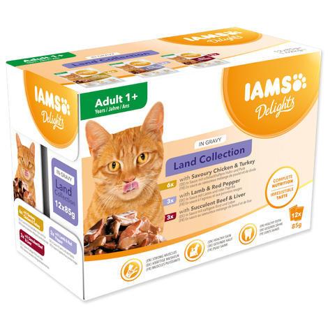 Kapsičky IAMS výběr ze suchozemských mas v omáčce Multipack 1020g