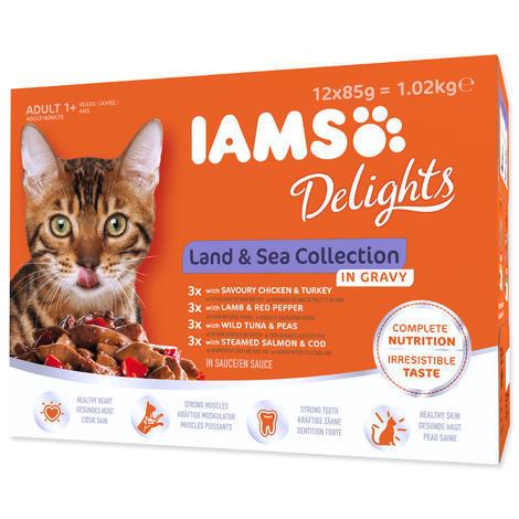 Kapsičky IAMS výběr z mořských a suchozemských mas v omáčce Multipack 1020g