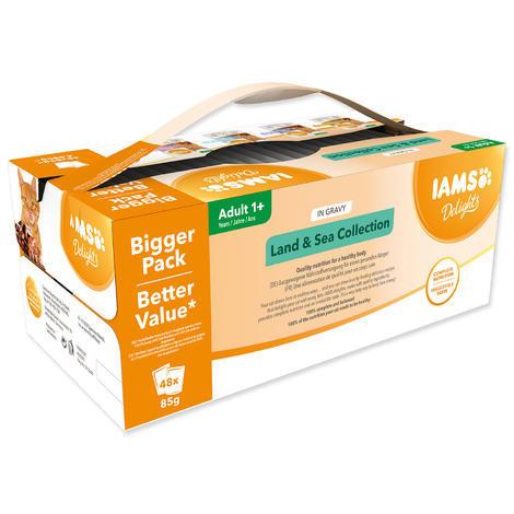Kapsičky IAMS výběr z mořských a suchozemských mas v omáčce Multipack 4080g