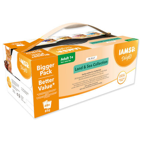Kapsičky IAMS výběr z mořských a suchozemských mas v želé Multipack 4080g