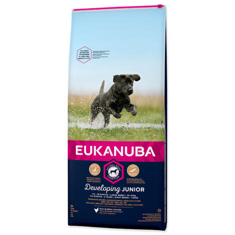 EUKANUBA Dog Junior Large Chicken 12kg