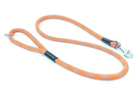 Vodítko Aminela lanové - série G, délka 150cm, síla 14mm, oranžová/šedá