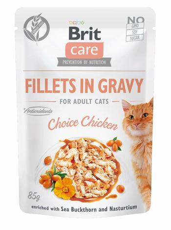 Brit Care Cat Fillets in Gravy Choice Chicken 85 g
