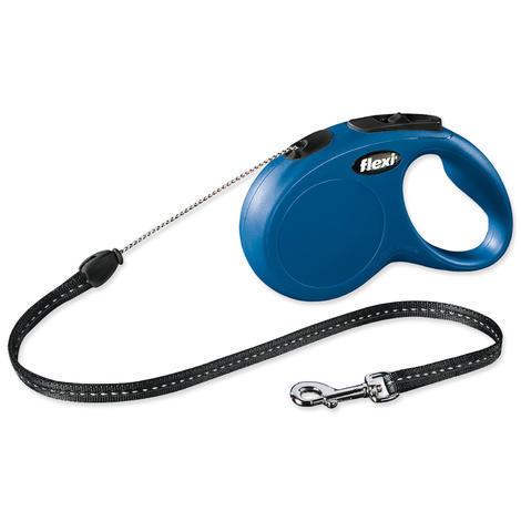 Vodítko FLEXI Classic New lanko modré  S